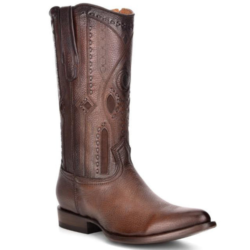 Cuadra Brown Deer Cowboy Boots R-TOE