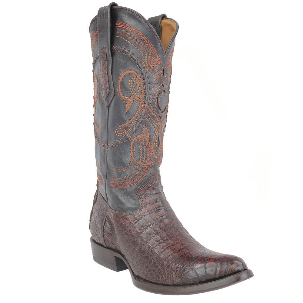 Cuadra Men's Lumber Whisky Caiman Belly Cowboy Boots