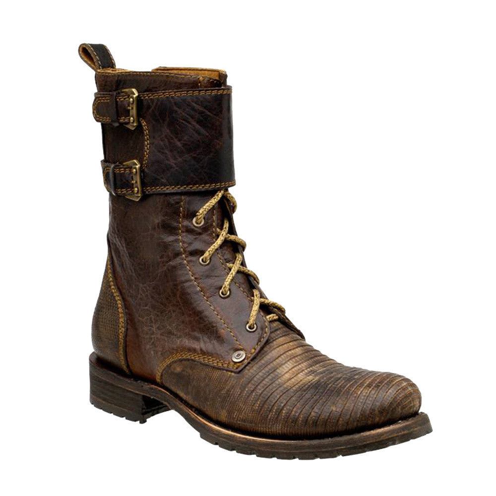 Cuadra Men's Lizard Military Boot - VaqueroBoots.com