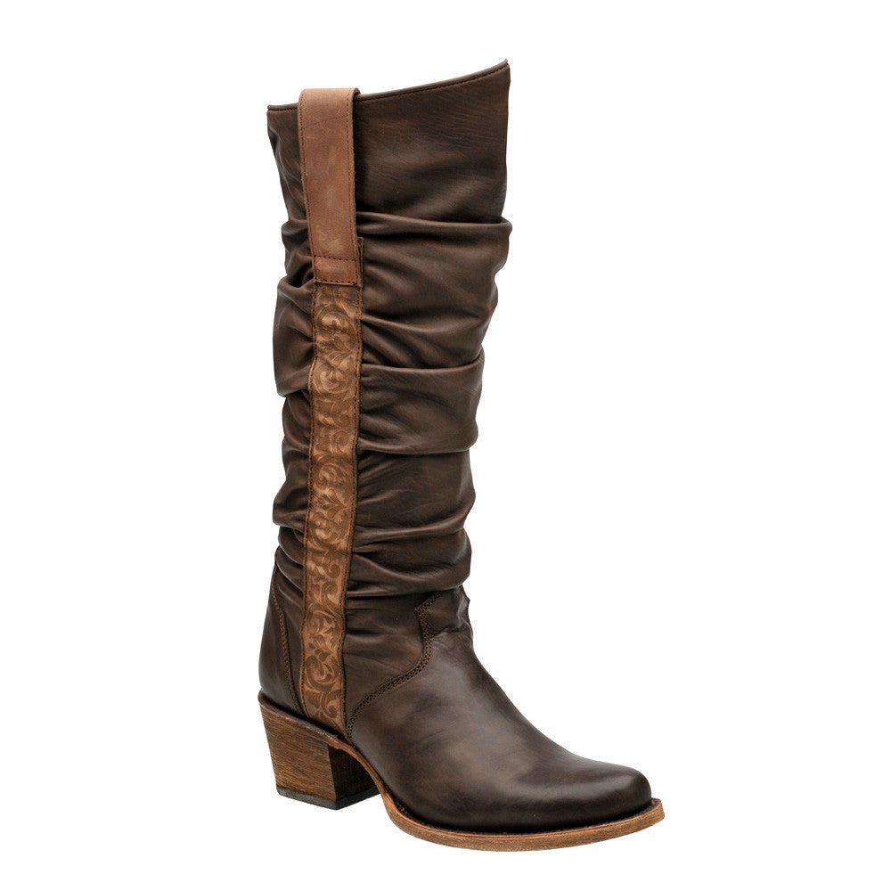 Cuadra Brown Soft Calf Leather Women's Boot - VaqueroBoots.com