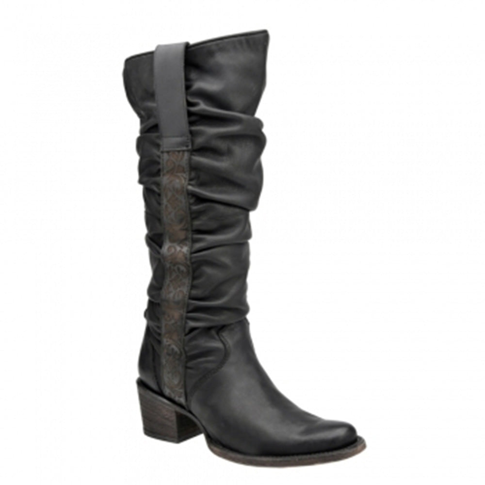 Cuadra Leather Engraved Women's Tall Boot