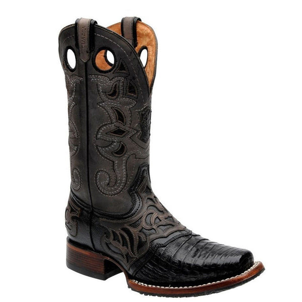 Cuadra Men's Caiman Belly Pro Rodeo Square Toe Boots