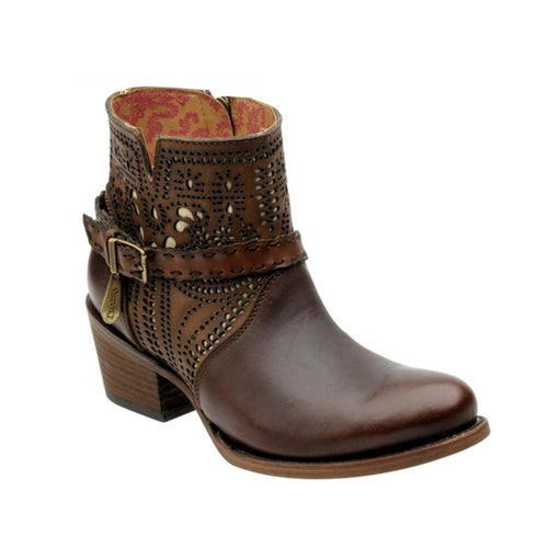 Cuadra Ladies chocolate Short Oval Toe boot - VaqueroBoots.com