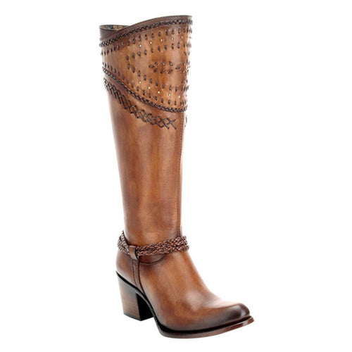 Cuadra Ladies Cream Vasco Almendra Tall Boot - 2Q2ACS