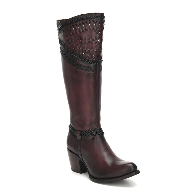 Cuadra Ladies Wax Wine Tall Boot - 2Q2ACS
