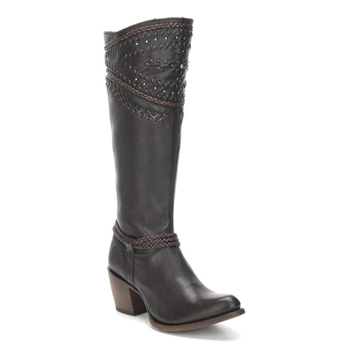 Cuadra Ladies Wax Brown Tall Boot - 2Q2AVL