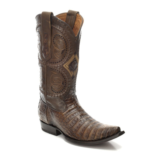 Cuadra Men's Porto Maple Caiman Belly Snip Toe Boots