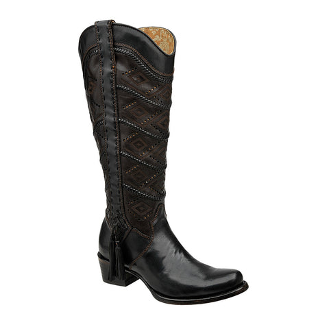 Cuadra Ladies Tall Boot Black 2F18VL - VaqueroBoots.com