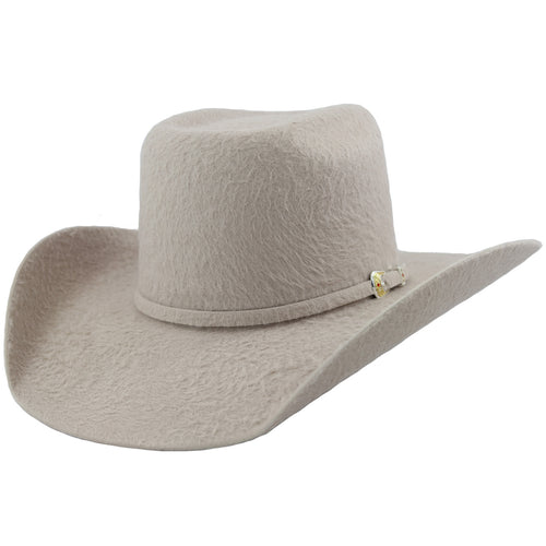 Cuernos Chuecos 30x Silver Belly Grizzly Fur Felt Cowboy Hat