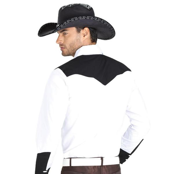 El General Men's White Charro Western Shirt