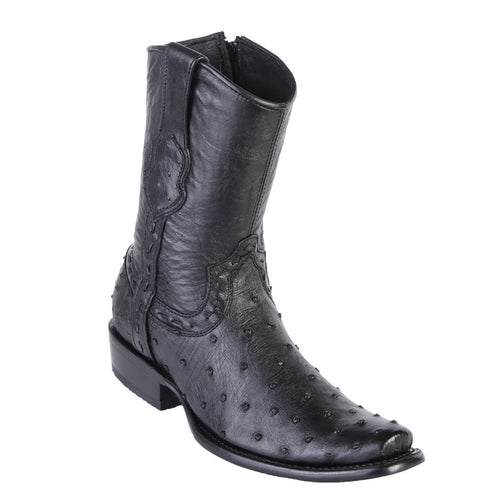 King Exotic Men's Dubai Toe Ostrich Boots
