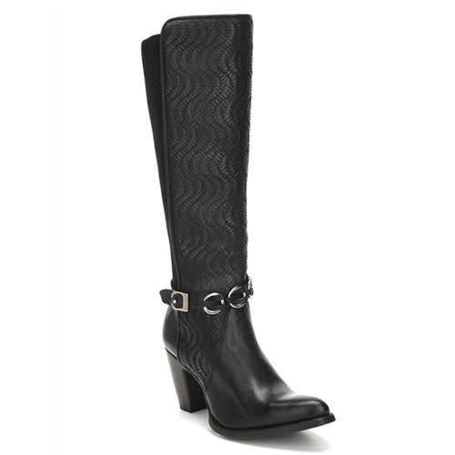 Cuadra Ladies Res Volturno Black Tall Boot