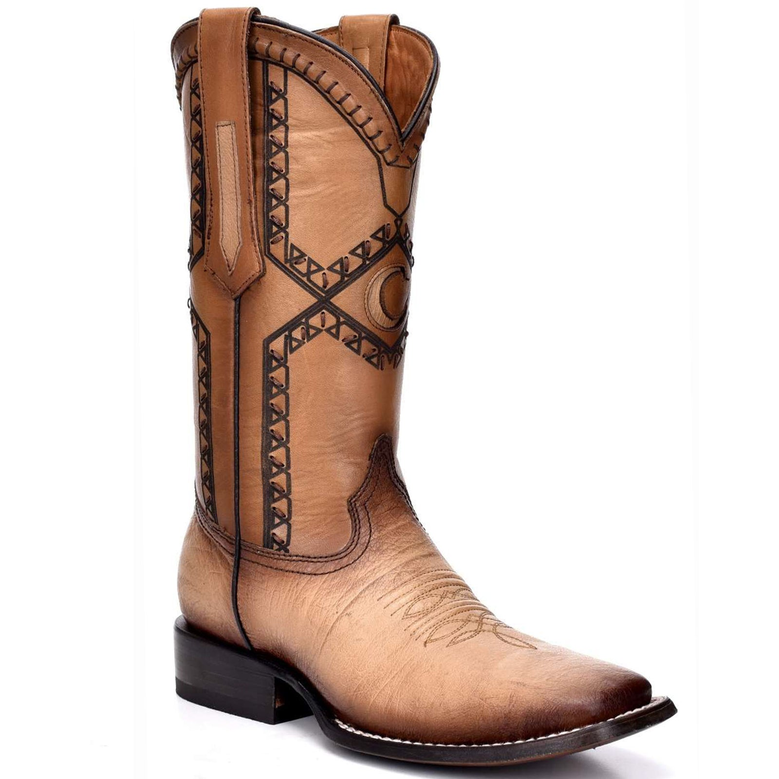 Cuadra Ostrich Belly Wide Square Toe Oryx Cowboy Boots