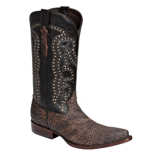 El General Men's Bull Shoulder Snip Toe Cowboy Boots