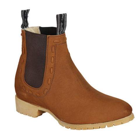 Men's Suede Square Toe Ankle Boots - Potro Rebelde