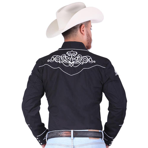 El General Men's Black Charro Shirt