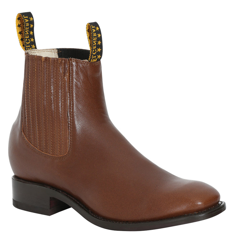 El General Men's Charro Square Toe Boots