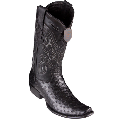 Los Altos Men's Ostrich Black Cowboy Boots - H79 Dubai Toe