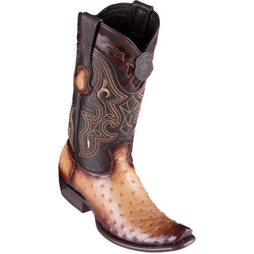 Los Altos Men's Ostrich Faded Oryx Cowboy Boots - H79 Dubai Toe