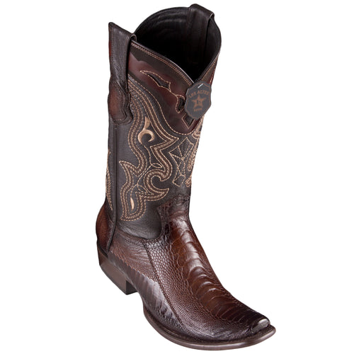 Los Altos Men's Ostrich Leg Faded Brown Cowboy Boots - H79 Dubai Toe