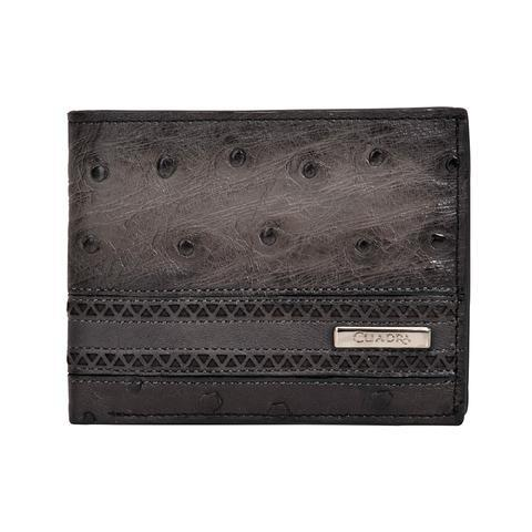 Cuadra Men's Flame Grey Ostrich Wallet