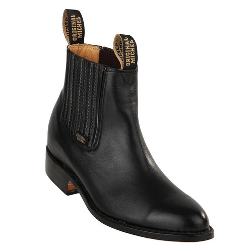 Original Michel Deer Black Ankle Boots - Botin Charro