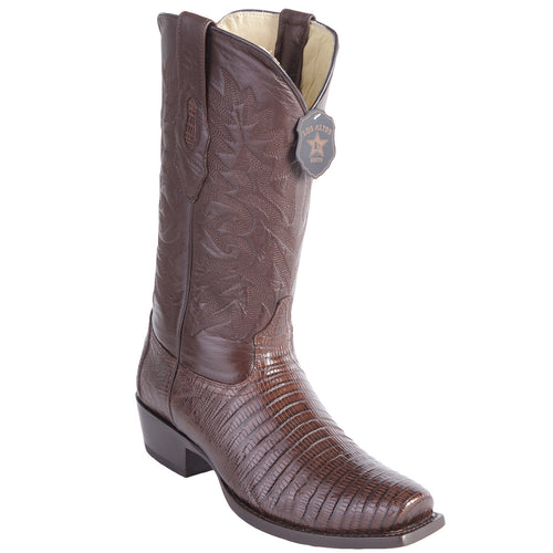 Los Altos Men's Lizard Teju Cowboy Boots 7-Toe