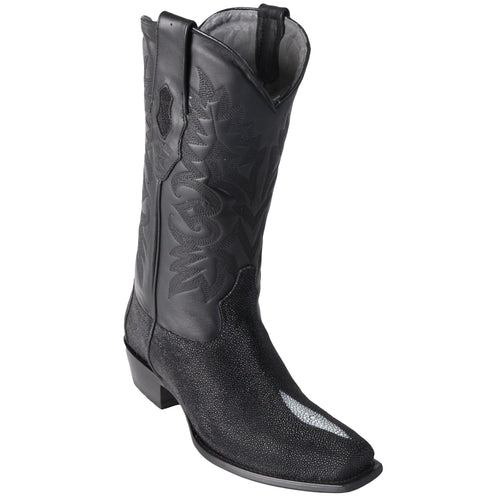 Los Altos Men's Single Stone Stingray Square 7-Toe Cowboy Boots