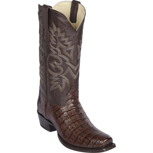 Los Altos Men's Brown Caiman Belly Cowboy Boots 7-Toe
