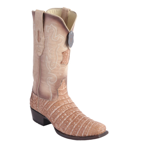 Los Altos Men's Caiman Belly Cowboy Boots 7-Toe