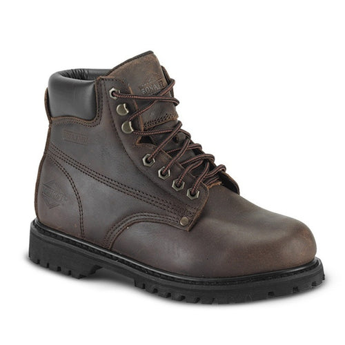 "Bonanza 6"" Men's Plain Toe Work Boots - VaqueroBoots.com - 2"