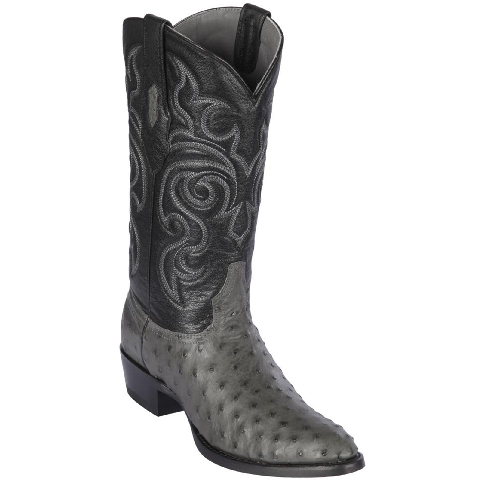 Los Altos Men's Full Quill Ostrich Round Toe Western Boots