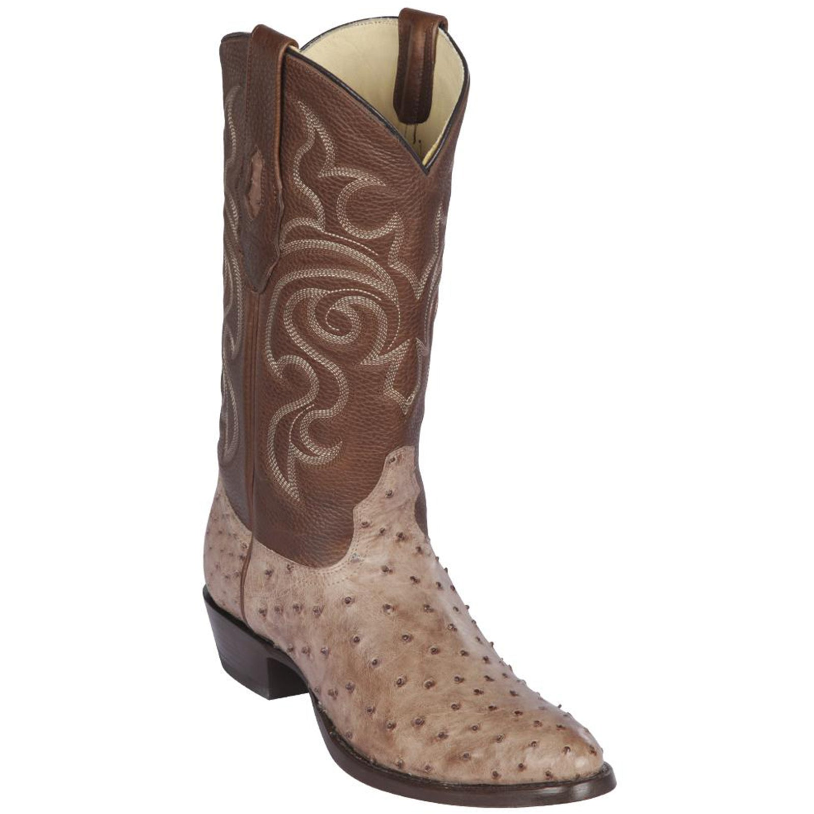 Los Altos Men's Ostrich R-Toe Western Boots
