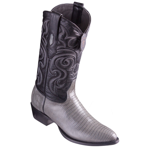 Los Altos Grey Teju R-Toe Cowboy Boots
