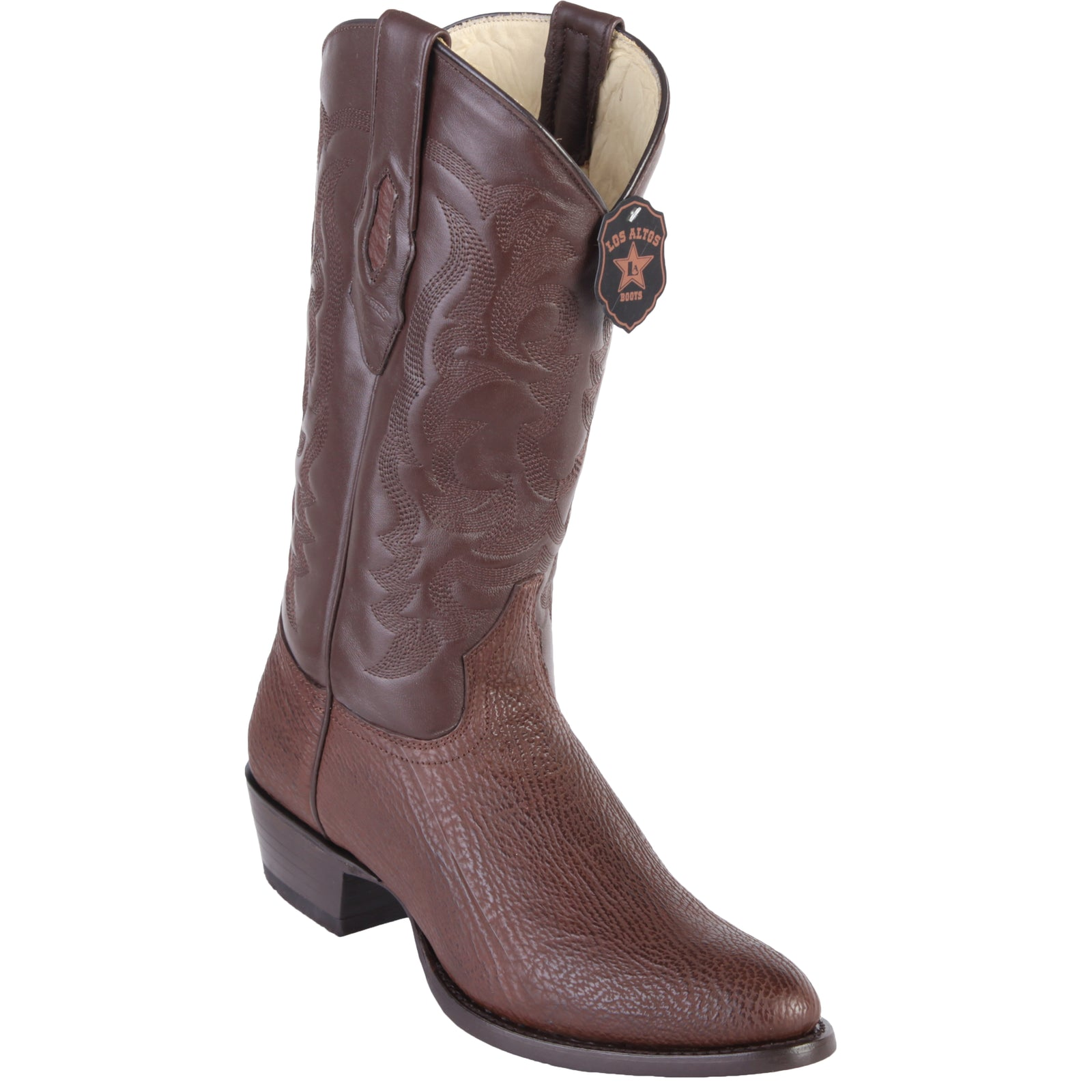 Los Altos Shark R-Toe Brown Cowboy Boots