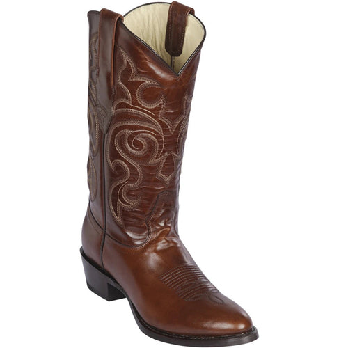 Los Altos Brown R-Toe Pull Up Cowboy Boots