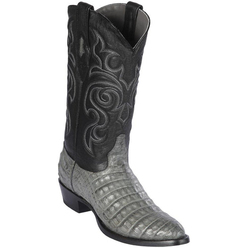 Los Altos Men's Gray Caiman Belly Cowboy Boots Round Toe