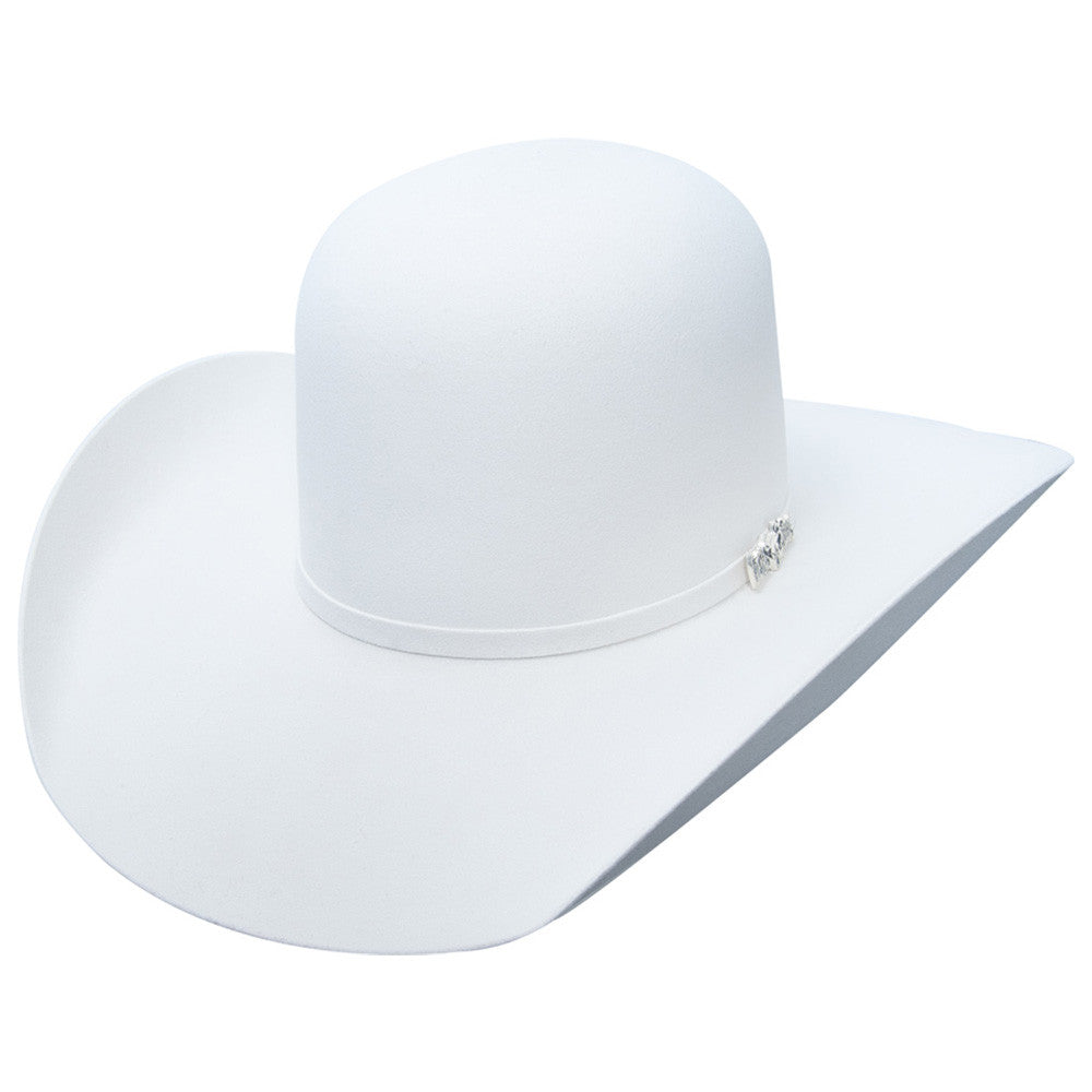 7fe97d1774 Cuernos Chuecos 6X Open Crown White Felt Hat