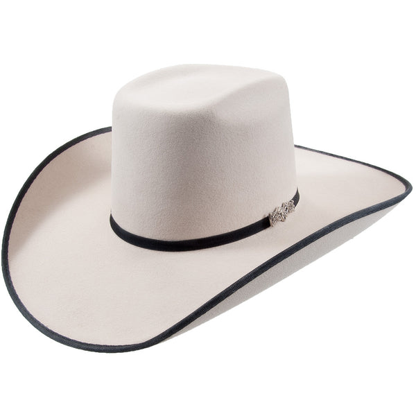 Cuernos Chuecos Doble Peligro Silver Belly Brick Crown Felt Hat - VaqueroBoots.com - 1