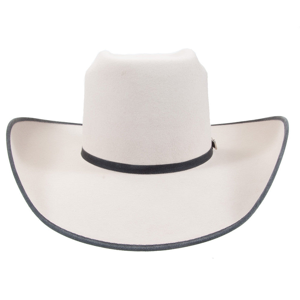 Cuernos Chuecos Doble Peligro Silver Belly Brick Crown Felt Hat - VaqueroBoots.com - 2