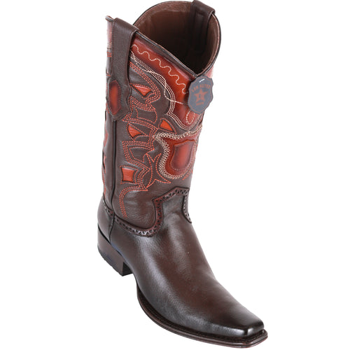 Los Altos Men's Grisly European Toe Cowboy Boots - Faded Brown