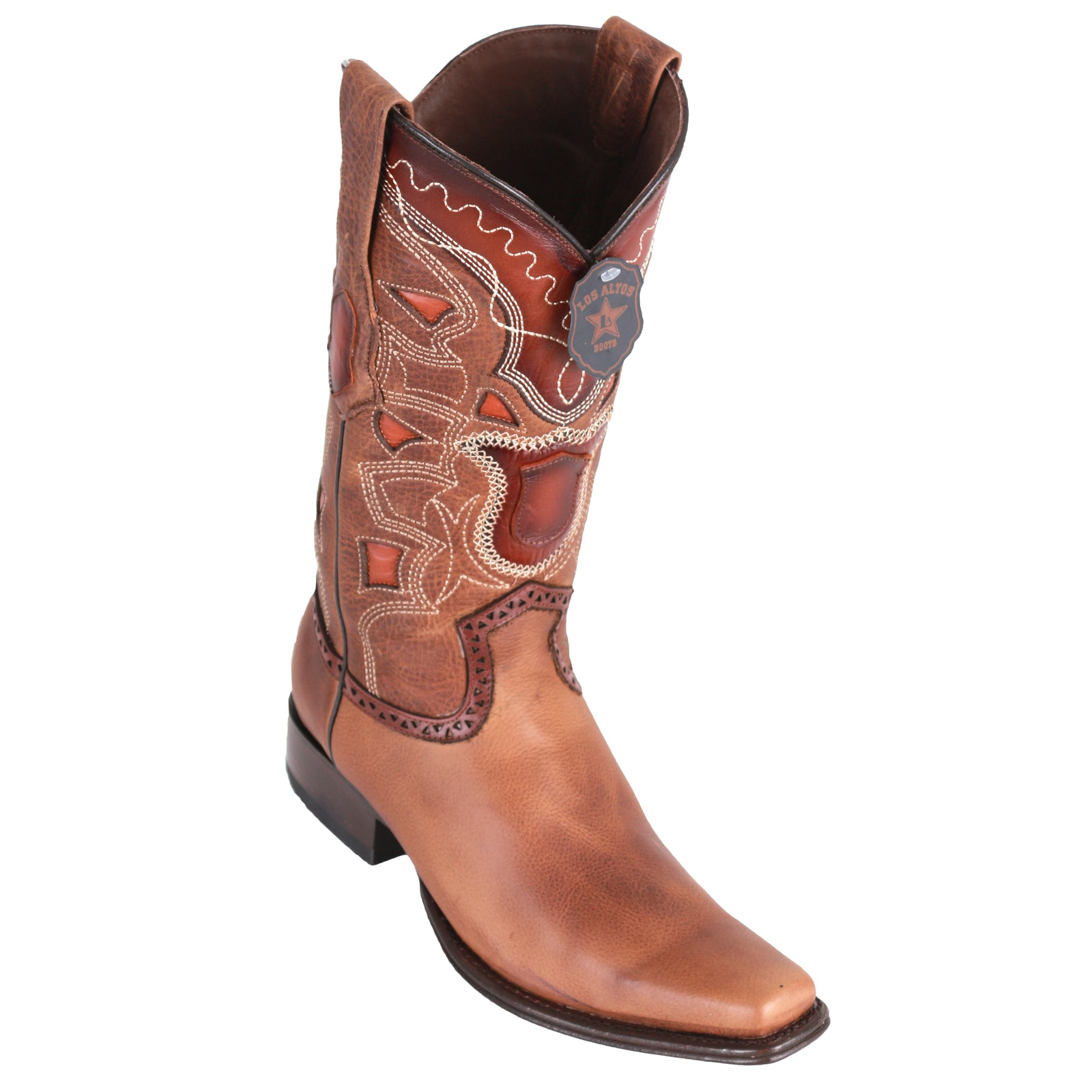 Los Altos Men's Rage European Toe Cowboy Boots - Honey