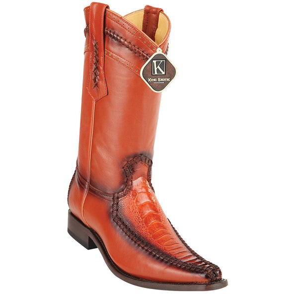 King Exotic Men's Ostrich Leg European Toe Boots - VaqueroBoots.com - 4