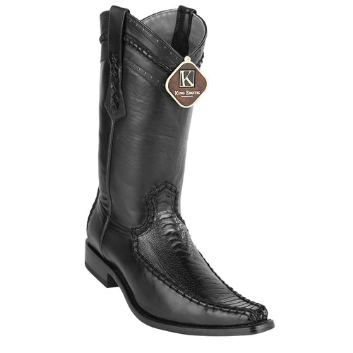 King Exotic Men's Ostrich Leg European Toe Boots - VaqueroBoots.com - 2