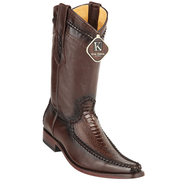 King Exotic Men's Ostrich Leg European Toe Boots - VaqueroBoots.com - 3