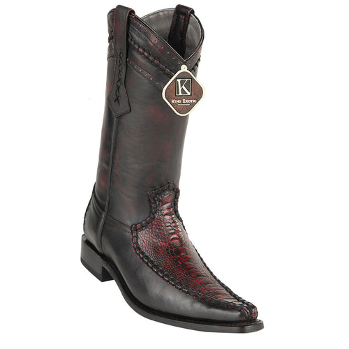 King Exotic Men's Ostrich Leg European Toe Boots - VaqueroBoots.com - 1