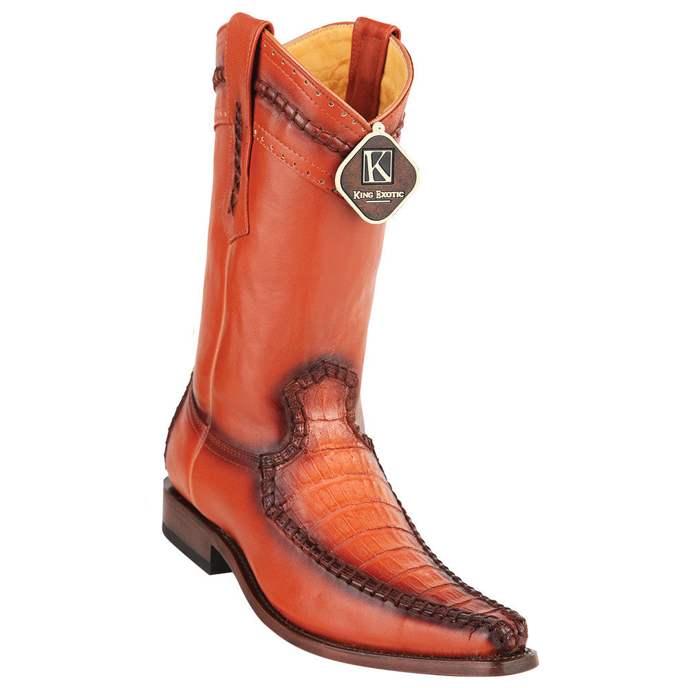 King Exotic Caiman Belly European Toe Boots - VaqueroBoots.com - 3