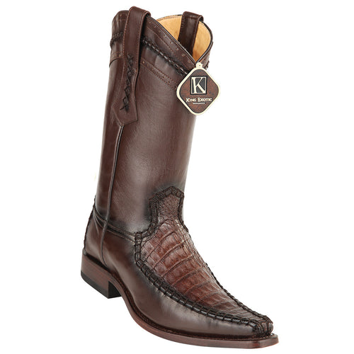 King Exotic Caiman Belly European Toe Boots - VaqueroBoots.com - 2