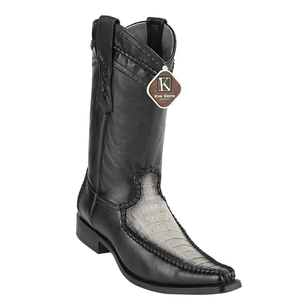 King Exotic Caiman Belly European Toe Boots - VaqueroBoots.com - 1
