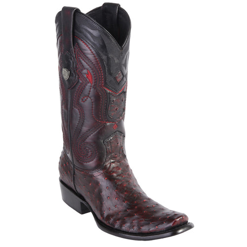 Wild West Men's Ostrich Boots Urban Toe